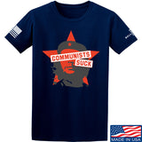 MAC Communists Suck T-Shirt T-Shirts Small / Navy by Ballistic Ink - Made in America USA