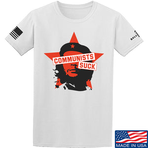 MAC Communists Suck T-Shirt T-Shirts Small / Sand by Ballistic Ink - Made in America USA