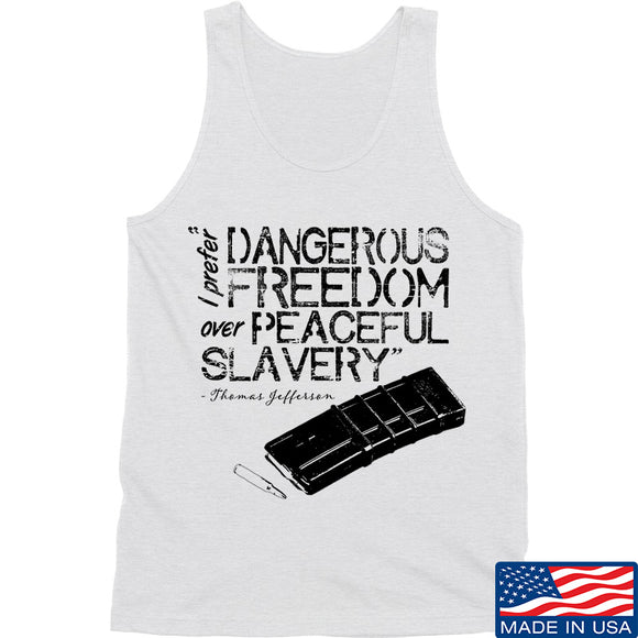 MAC Dangerous Freedom AR15 Mag Tank Tanks SMALL / White by Ballistic Ink - Made in America USA