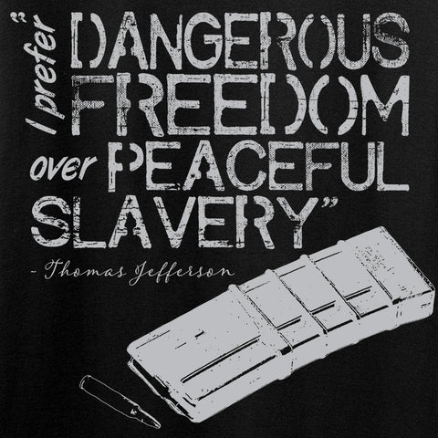 MAC Dangerous Freedom AR15 Mag T-Shirt T-Shirts [variant_title] by Ballistic Ink - Made in America USA