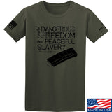 MAC Dangerous Freedom AR15 Mag T-Shirt T-Shirts Small / Military Green by Ballistic Ink - Made in America USA