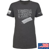 MAC Ladies Dangerous Freedom AR15 Mag T-Shirt T-Shirts SMALL / Charcoal by Ballistic Ink - Made in America USA