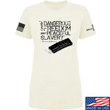 MAC Ladies Dangerous Freedom AR15 Mag T-Shirt T-Shirts SMALL / Cream by Ballistic Ink - Made in America USA