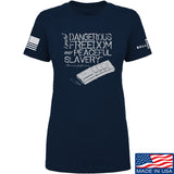 MAC Ladies Dangerous Freedom AR15 Mag T-Shirt T-Shirts SMALL / Navy by Ballistic Ink - Made in America USA