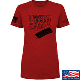 MAC Ladies Dangerous Freedom AR15 Mag T-Shirt T-Shirts SMALL / Red by Ballistic Ink - Made in America USA