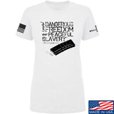 MAC Ladies Dangerous Freedom AR15 Mag T-Shirt T-Shirts SMALL / White by Ballistic Ink - Made in America USA