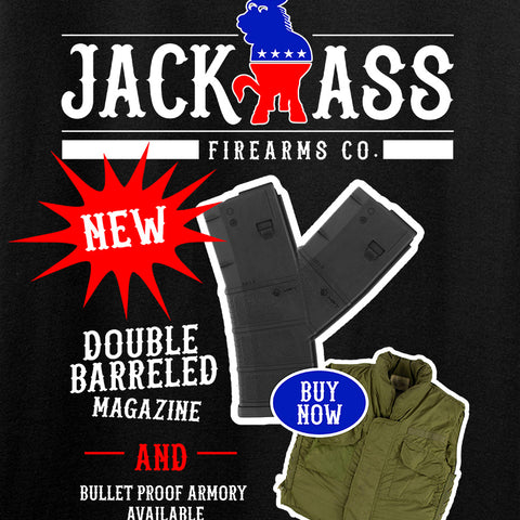 MAC Double Barreled Magazine T-Shirt T-Shirts [variant_title] by Ballistic Ink - Made in America USA