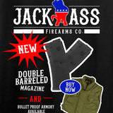 MAC Ladies Double Barreled Magazine T-Shirt T-Shirts [variant_title] by Ballistic Ink - Made in America USA