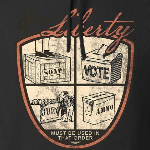 MAC Four Boxes Of Liberty Hoodie Hoodies [variant_title] by Ballistic Ink - Made in America USA