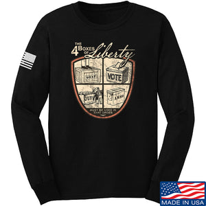 MAC Four Boxes Of Liberty Long Sleeve T-Shirt Long Sleeve Small / Light Grey by Ballistic Ink - Made in America USA