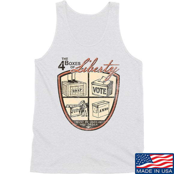 MAC Four Boxes Of Liberty Tank Tanks SMALL / White by Ballistic Ink - Made in America USA