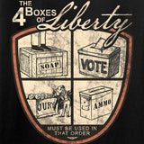 MAC Four Boxes Of Liberty T-Shirt T-Shirts [variant_title] by Ballistic Ink - Made in America USA