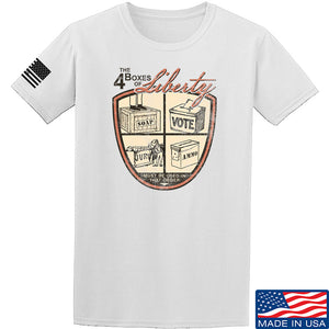 MAC Four Boxes Of Liberty T-Shirt T-Shirts Small / Military Green by Ballistic Ink - Made in America USA