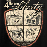 MAC Ladies Four Boxes Of Liberty T-Shirt T-Shirts [variant_title] by Ballistic Ink - Made in America USA