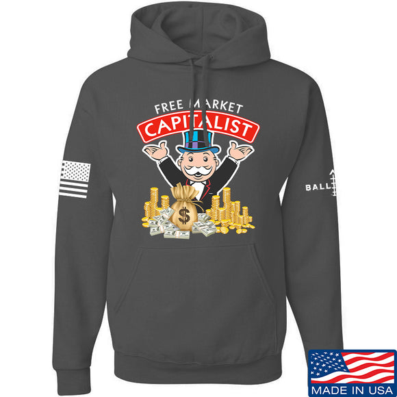 MAC Free Market Capitalist Hoodie Hoodies Small / Charcoal by Ballistic Ink - Made in America USA