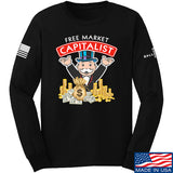 MAC Free Market Capitalist Long Sleeve T-Shirt Long Sleeve Small / Black by Ballistic Ink - Made in America USA