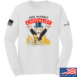 MAC Free Market Capitalist Long Sleeve T-Shirt Long Sleeve Small / White by Ballistic Ink - Made in America USA