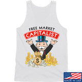 MAC Free Market Capitalist Tank Tanks SMALL / White by Ballistic Ink - Made in America USA