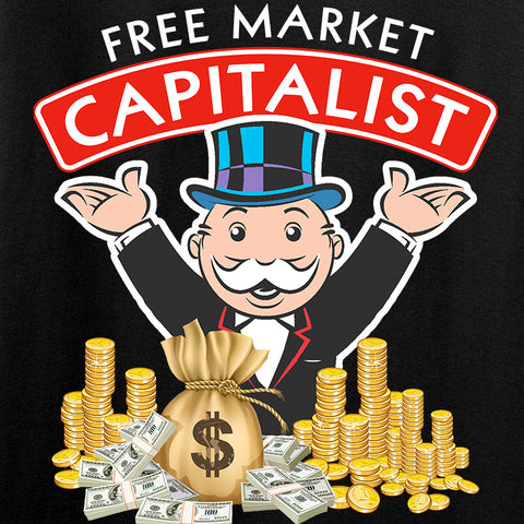 MAC Free Market Capitalist Long Sleeve T-Shirt Long Sleeve [variant_title] by Ballistic Ink - Made in America USA