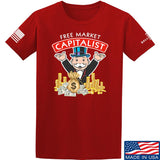 MAC Free Market Capitalist T-Shirt T-Shirts Small / Red by Ballistic Ink - Made in America USA