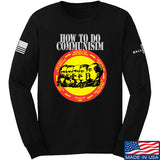 MAC How Communism Works Long Sleeve T-Shirt Long Sleeve Small / Black by Ballistic Ink - Made in America USA