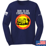MAC How Communism Works Long Sleeve T-Shirt Long Sleeve Small / Navy by Ballistic Ink - Made in America USA