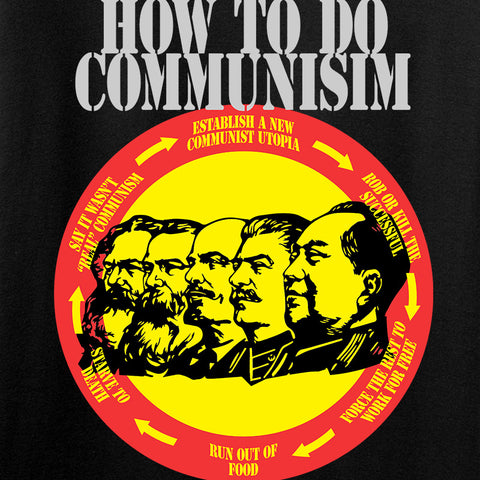 MAC How Communism Works T-Shirt T-Shirts [variant_title] by Ballistic Ink - Made in America USA
