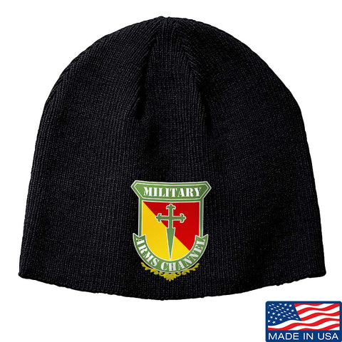 MAC MAC Military Arms Channel Logo Beanie Headwear Black by Ballistic Ink - Made in America USA