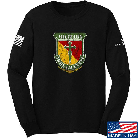 MAC MAC Military Arms Channel Logo Long Sleeve T-Shirt Long Sleeve Small / Black by Ballistic Ink - Made in America USA