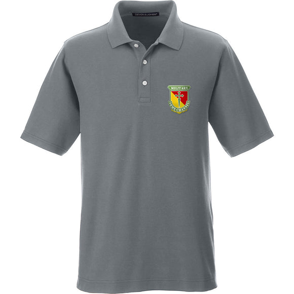 MAC MAC Military Arms Channel Logo Polo Polos Small / Graphite by Ballistic Ink - Made in America USA