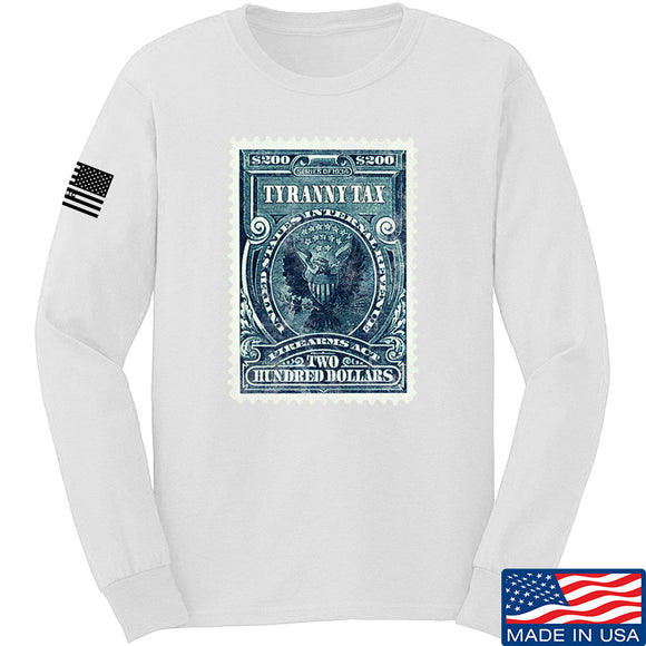 MAC Tyranny Tax Long Sleeve T-Shirt Long Sleeve Small / White by Ballistic Ink - Made in America USA