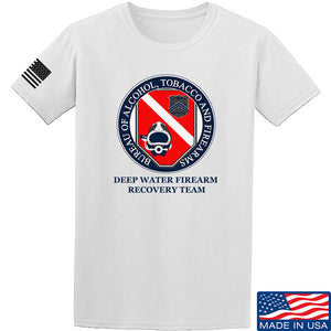 Men of Arms Apparel ATF Underwater Firearm Recovery T-Shirt T-Shirts Small / Navy by Ballistic Ink - Made in America USA