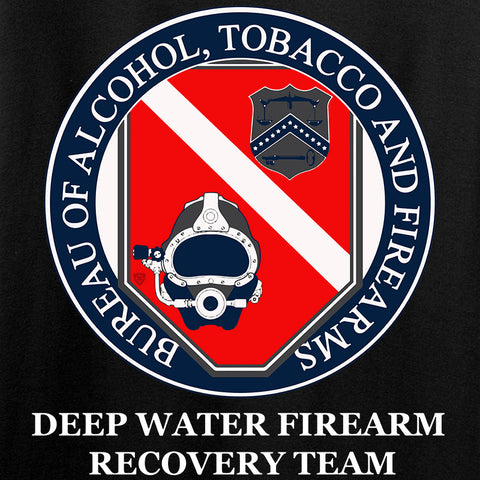 Men of Arms Apparel Ladies ATF Underwater Firearm Recovery T-Shirt T-Shirts [variant_title] by Ballistic Ink - Made in America USA