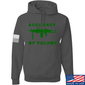 Men of Arms Apparel Accuracy by Volume Hoodie Hoodies Small / Black by Ballistic Ink - Made in America USA