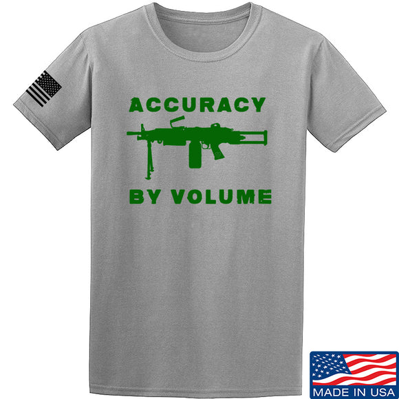 Men of Arms Apparel Accuracy by Volume T-Shirt T-Shirts Small / Light Grey by Ballistic Ink - Made in America USA