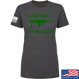 Men of Arms Apparel Ladies Accuracy by Volume T-Shirt T-Shirts SMALL / Charcoal by Ballistic Ink - Made in America USA