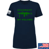 Men of Arms Apparel Ladies Accuracy by Volume T-Shirt T-Shirts SMALL / Navy by Ballistic Ink - Made in America USA