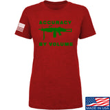 Men of Arms Apparel Ladies Accuracy by Volume T-Shirt T-Shirts SMALL / Red by Ballistic Ink - Made in America USA
