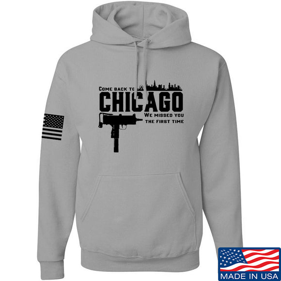 Men of Arms Apparel Chicago Hoodie Hoodies Small / Light Grey by Ballistic Ink - Made in America USA