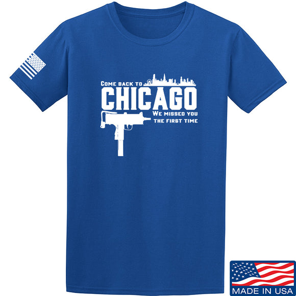 Men of Arms Apparel Chicago T-Shirt T-Shirts Small / Blue by Ballistic Ink - Made in America USA