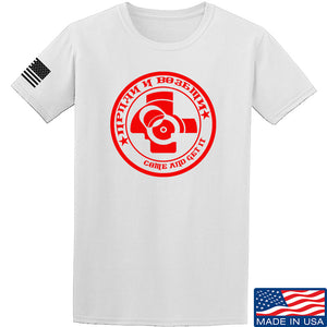 Men of Arms Apparel Come and Get It T-Shirt T-Shirts Small / Blue by Ballistic Ink - Made in America USA