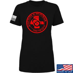 Men of Arms Apparel Ladies Come and Get It T-Shirt T-Shirts SMALL / White by Ballistic Ink - Made in America USA