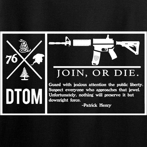 Men of Arms Apparel DTOM Join or Die T-Shirt T-Shirts [variant_title] by Ballistic Ink - Made in America USA