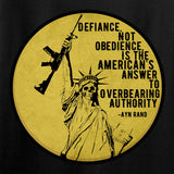 Men of Arms Apparel Defiance Not Obedience T-Shirt T-Shirts [variant_title] by Ballistic Ink - Made in America USA