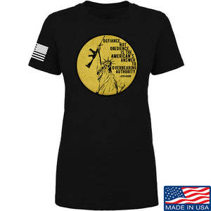 Men of Arms Apparel Ladies Defiance Not Obedience T-Shirt T-Shirts SMALL / Red by Ballistic Ink - Made in America USA