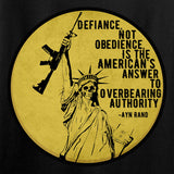 Men of Arms Apparel Ladies Defiance Not Obedience T-Shirt T-Shirts [variant_title] by Ballistic Ink - Made in America USA