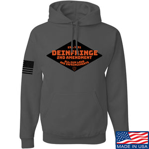 Men of Arms Apparel Deinfringe the 2nd Hoodie Hoodies Small / Charcoal by Ballistic Ink - Made in America USA