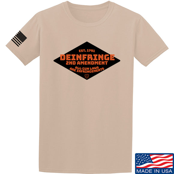 Men of Arms Apparel Deinfringe the 2nd T-Shirt T-Shirts Small / Sand by Ballistic Ink - Made in America USA