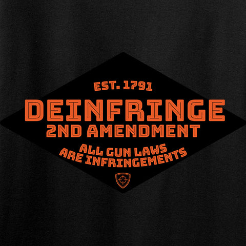 Men of Arms Apparel Ladies Deinfringe the 2nd T-Shirt T-Shirts [variant_title] by Ballistic Ink - Made in America USA