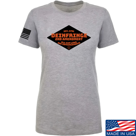 Men of Arms Apparel Ladies Deinfringe the 2nd T-Shirt T-Shirts SMALL / Light Grey by Ballistic Ink - Made in America USA
